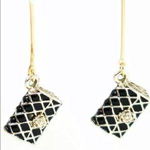 Betsy Johnson Monet purse 👛 enamel earrings